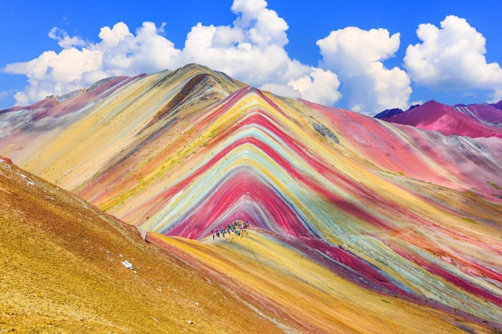 Rainbow Mountain Peru Colourful Places by emperorcosar, Shutterstock