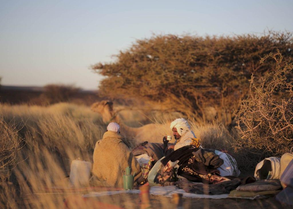 Desert oasis tea Sudan by Nicholas Holt
