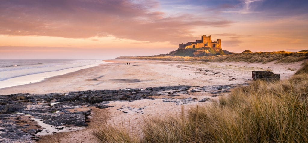 Bamburgh Castle Northumberland by Dave Head Shutterstock
