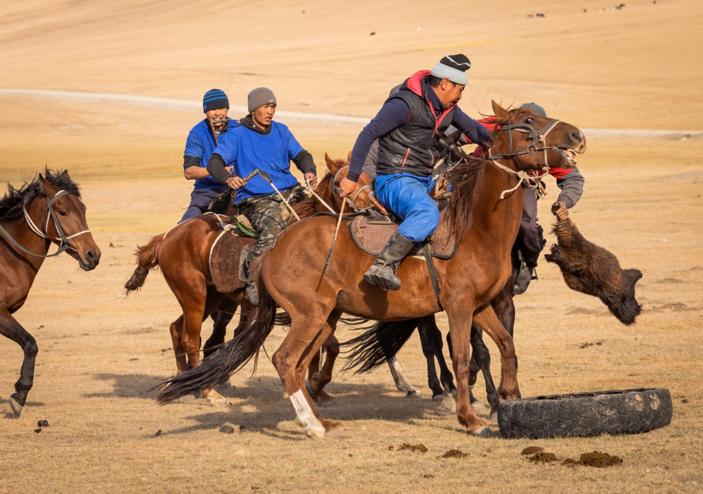 Dead goat Polo Kyrgyzstan cultural heritage by Bharat Patel