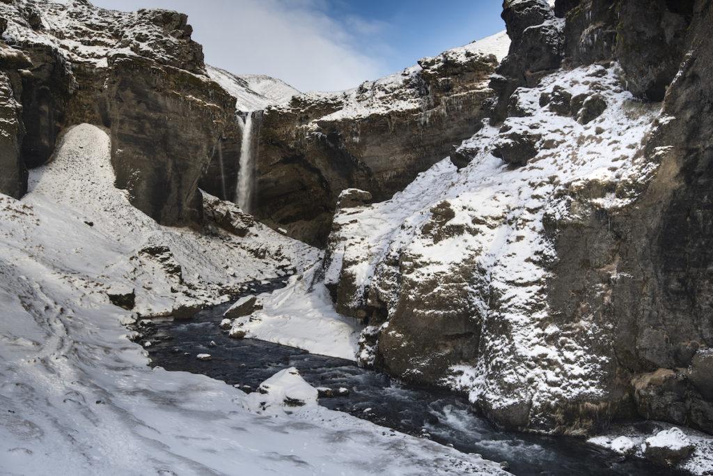 Kvernufoss waterfall Iceland by Scott Bennett