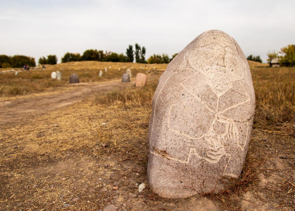 Balbals around Burana Tower Kyrgyzstan cultural heritage by Bharat Patel