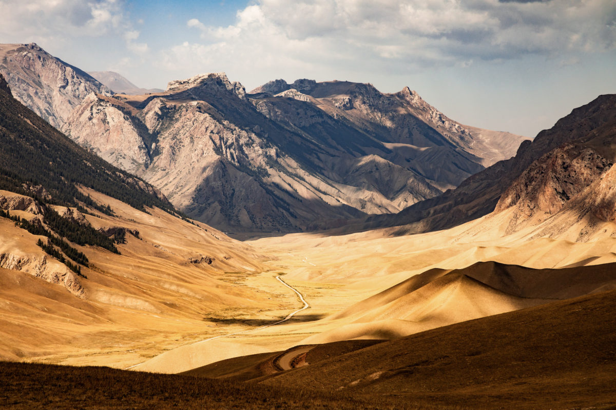 Mountains Kyrgyzstan by Bharat Patel