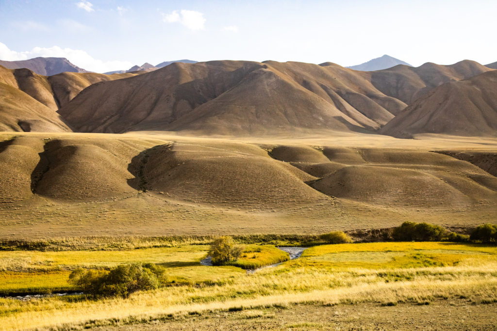 Kyrgyzstan view mountains by Bharat Patel
