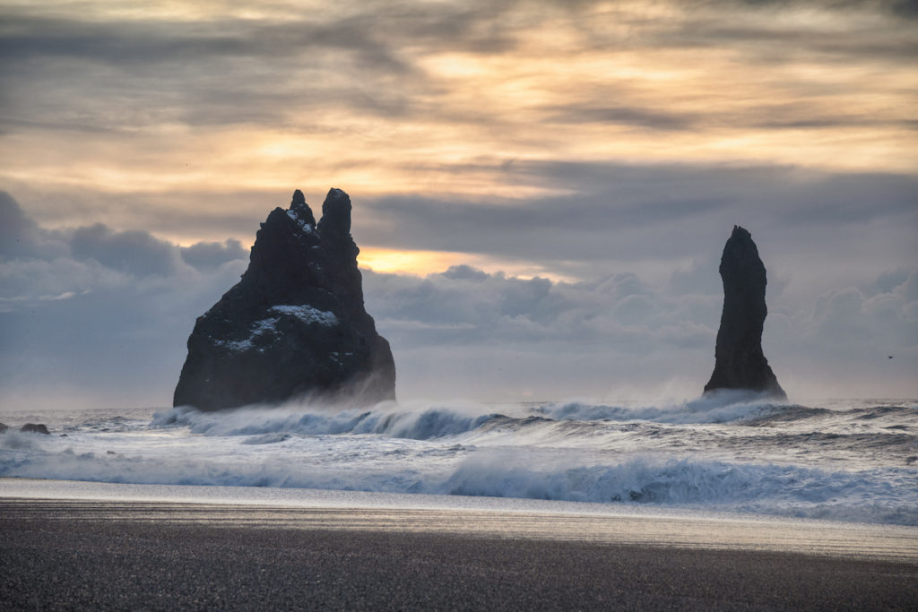 Reynisdrangar Rocks Iceland by Scott Bennett