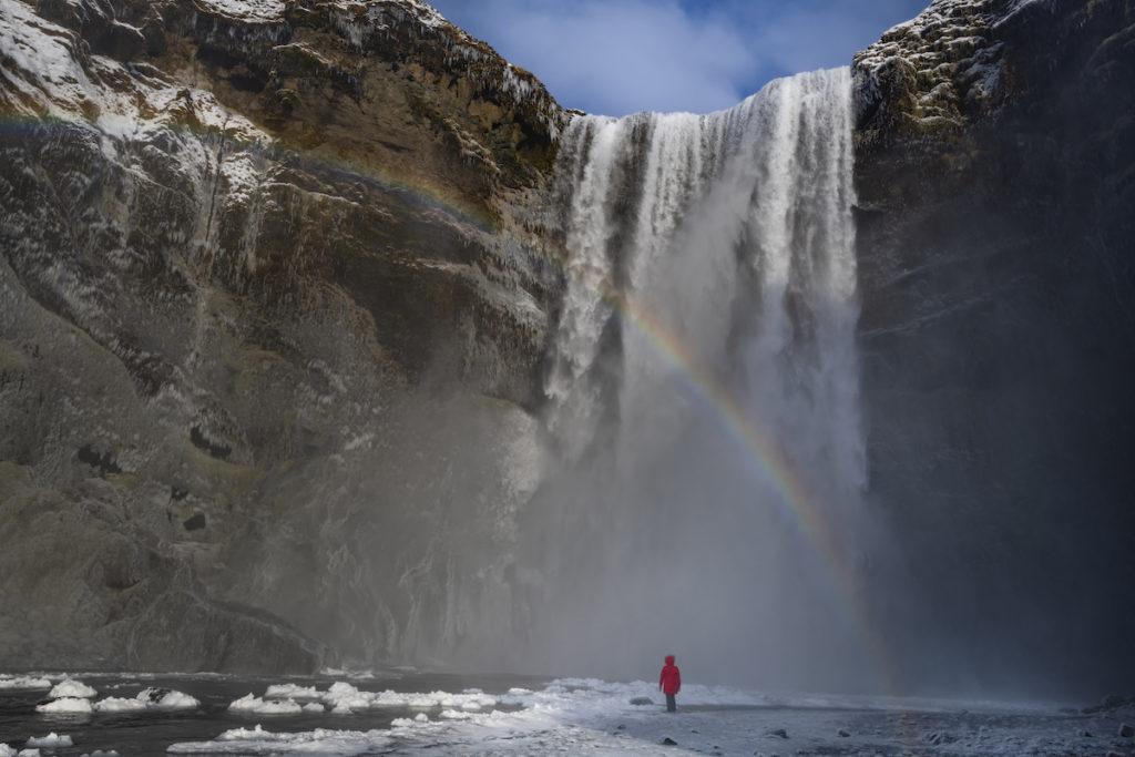 Skógafoss Waterfall Iceland by Scott Bennett