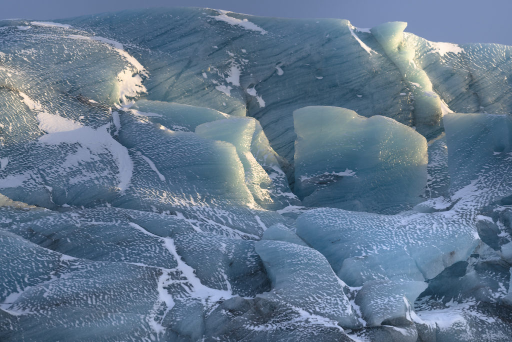 Svínafellsjökull Ice Detail Iceland by Scott Bennett