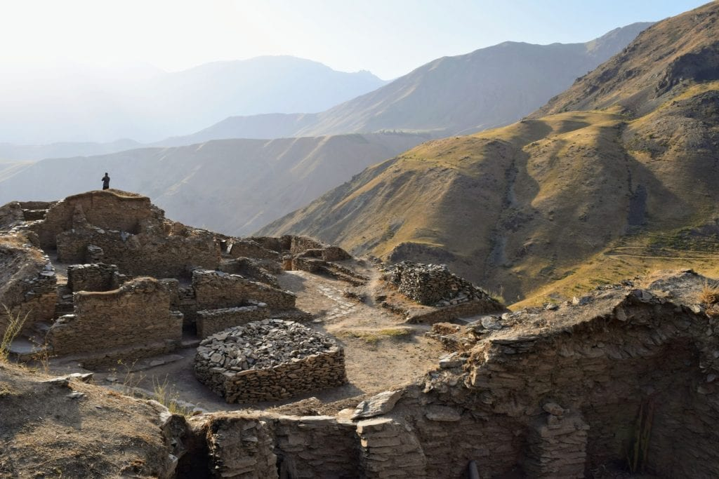 Castle Karon Ruins Tajikistan cultural heritage by Sophie Ibbotson