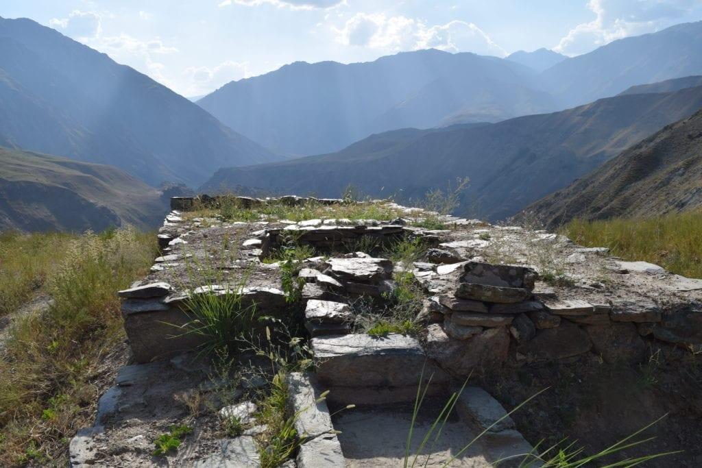 Customs post Castle Karon Ruins Tajikistan cultural heritage by Sophie Ibbotson