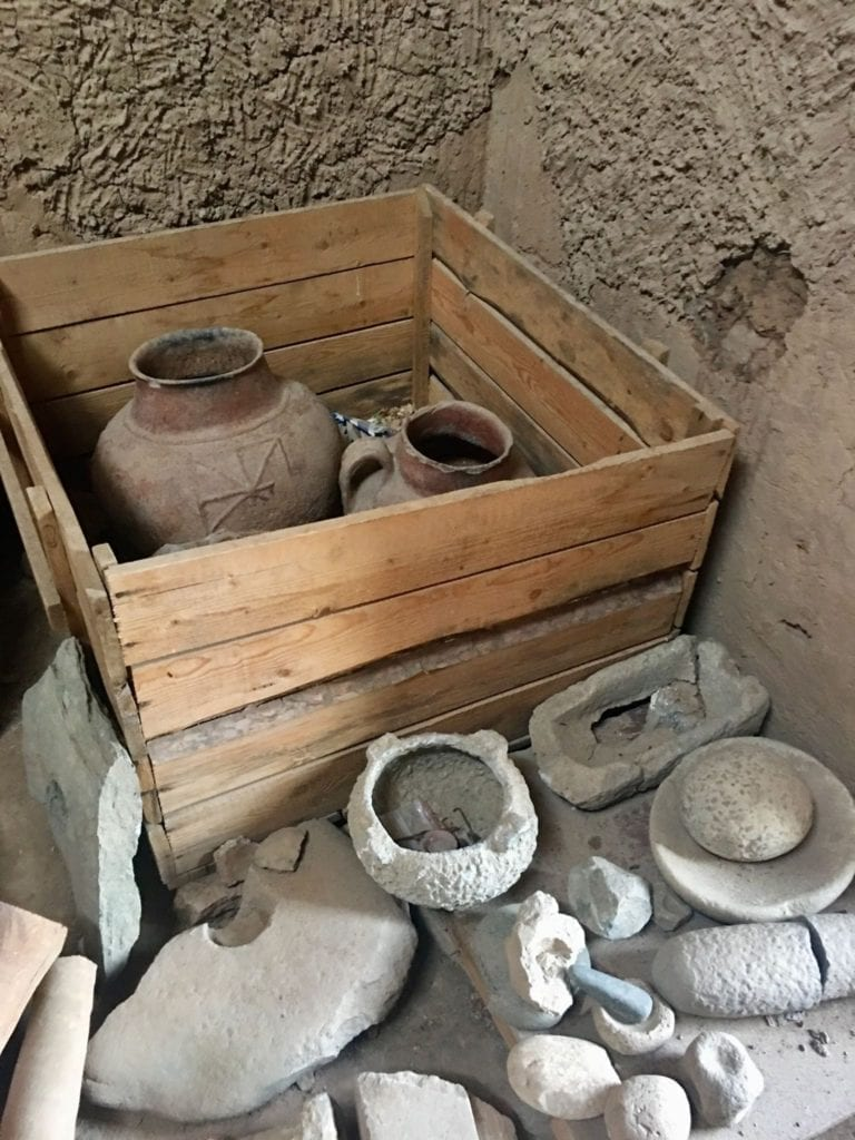 Excavated pottery from Castle Karon Ruins Tajikistan by Sophie Ibbotson