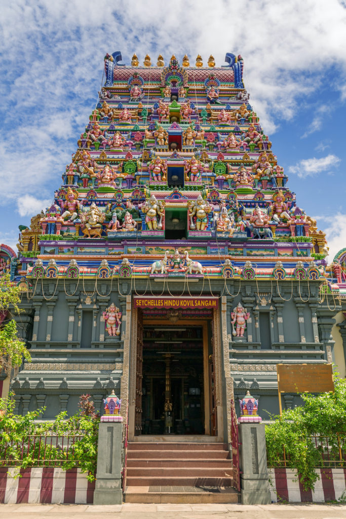 Hindu Temple Victoria Seychelles by 18042011e Dreamstime