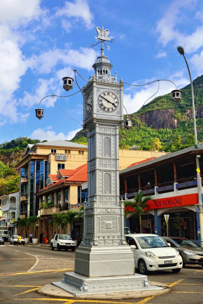 Clock Tower Victoria Seychelles by Oleg Znamenskiy Shutterstock