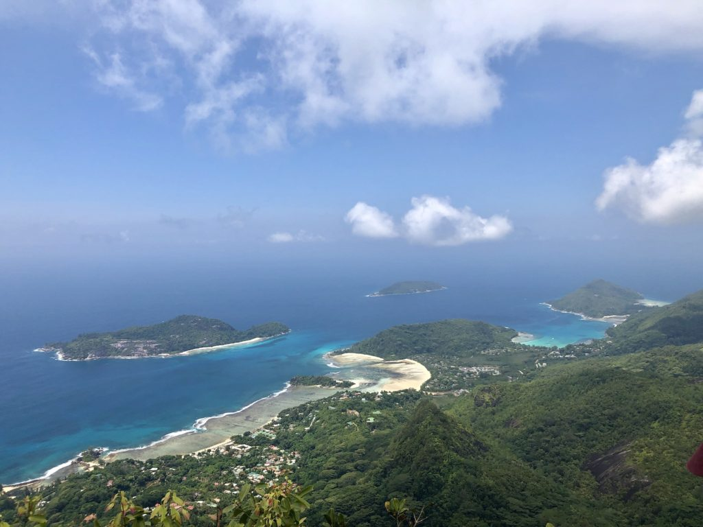 View from Morne Blanc Morne Seychellois National Park Mahe Seychelles by Njohn5188 Wikimedia Commons