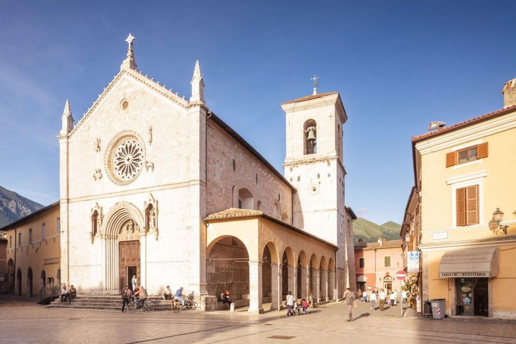 San Benedict in Piazza San Benedetto, Norcia, Italy, Julian Elliott