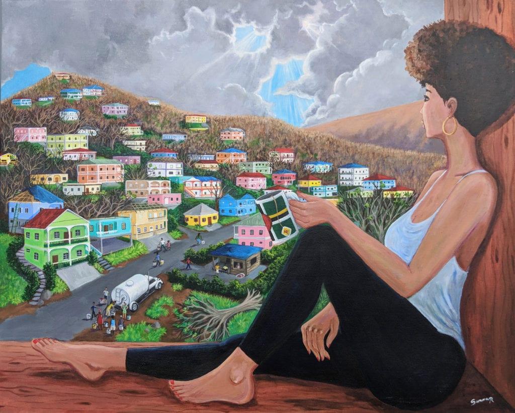 Dominica Art Sarama Rolle by Waitukubuli Artist Association