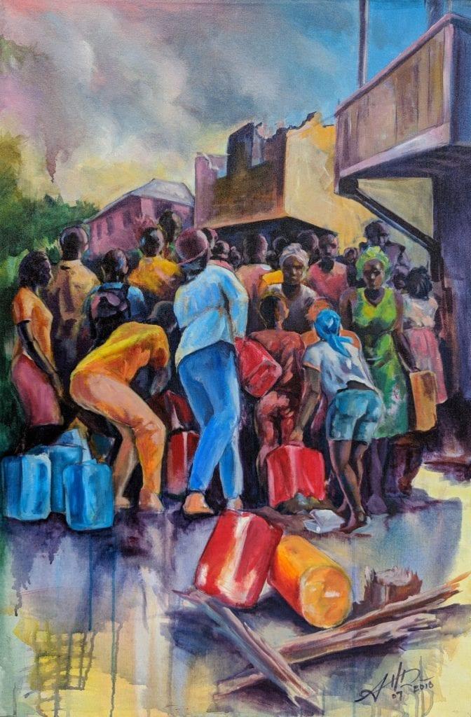 Dominica Art Aaron Hamilton by Waitukubuli Artist Association