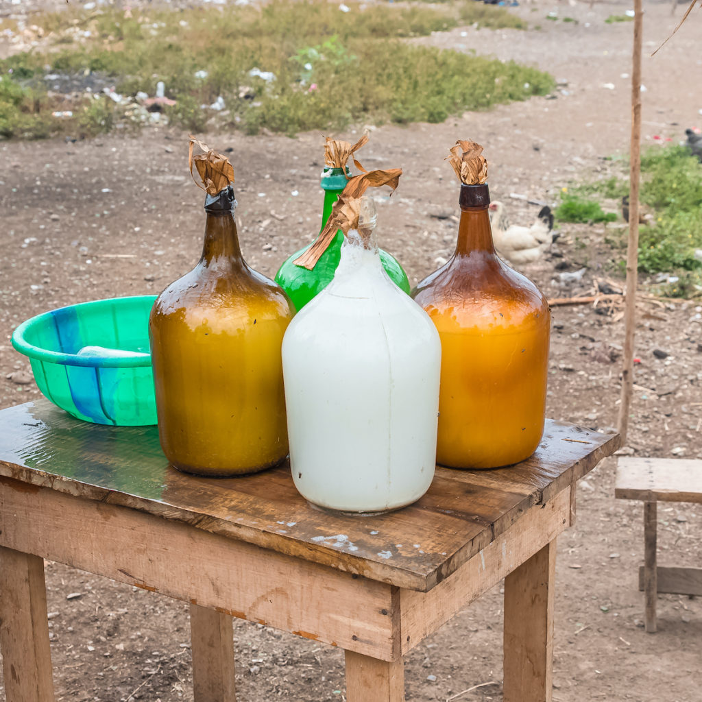 Palm wine Sao Tome Principe by Pascale Gueret Shutterstock