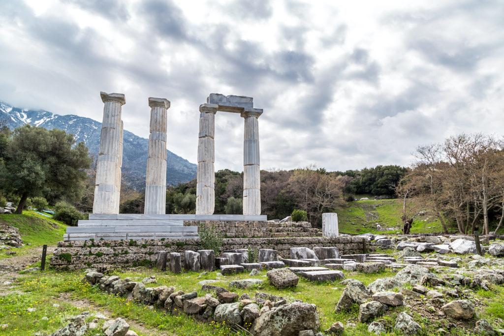 Temple Sanctuary of the Gods of the Underworld Samothraki Northern greece by niki_spasov Shutterstock