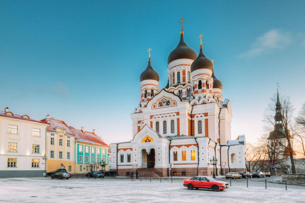 Alexander Nevsky Cathedral Tallinn Estonia by Grisha Bruev Shutterstock