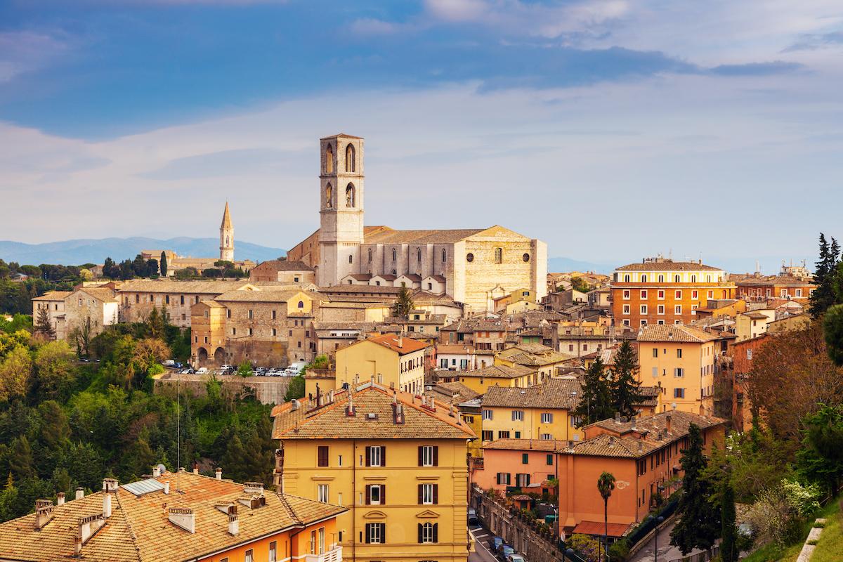 Basilica di San Domenico Perugia Umbria by Henryk Sadura Shutterstock