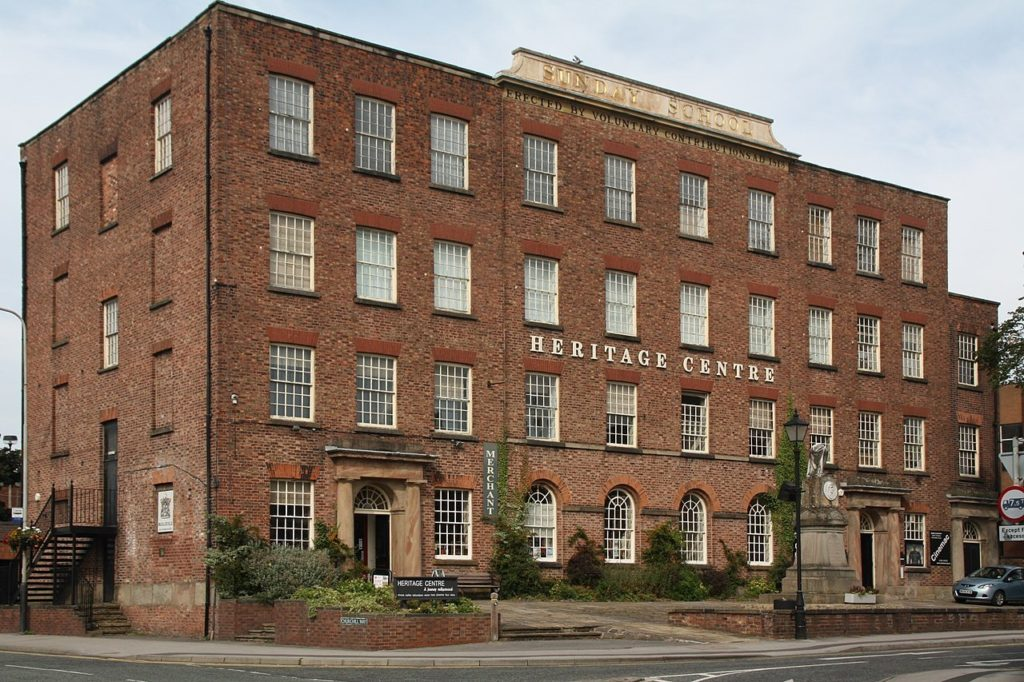 Old Sunday School, Macclesfield, Cheshire, Mike in Macc, Wikimedia Commons