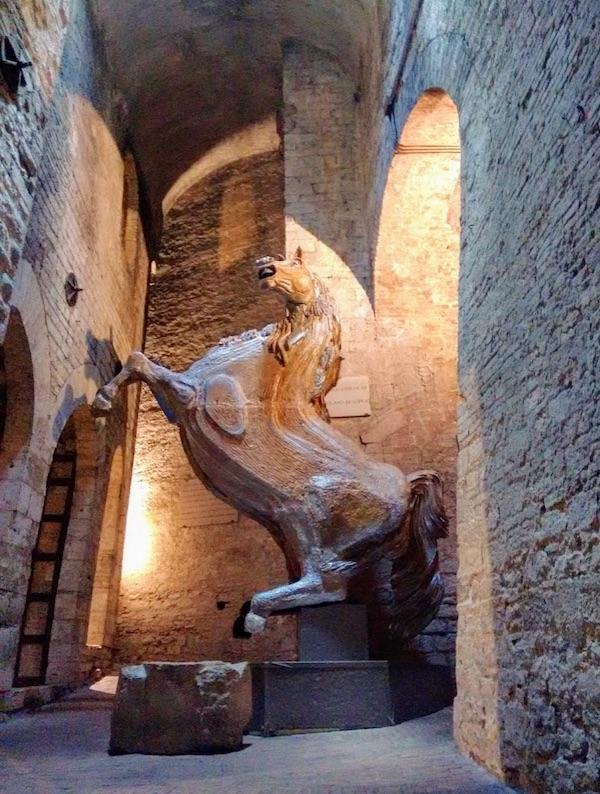 Underground Perugia horse Umbria by Dana Facaros