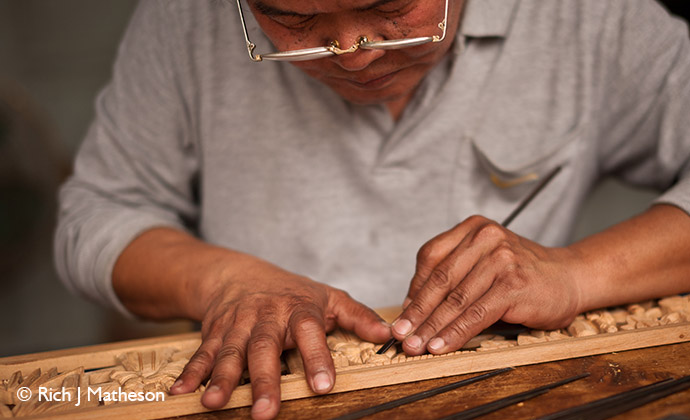 Woodcarving, Taiwan by Rich J Matheson