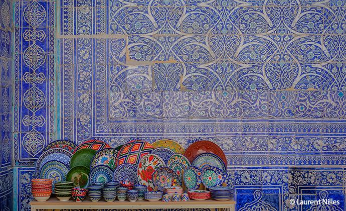 Tiles, Uzbekistan by Laurent Nilles