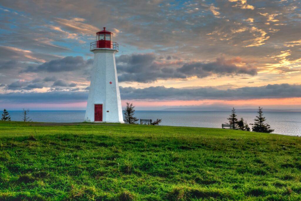 Cape George Lighthouse in Nova Scotia