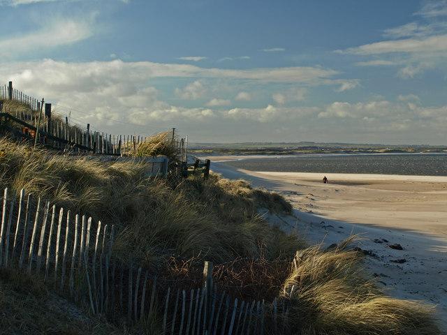 Cresswell Beach in Northumberland