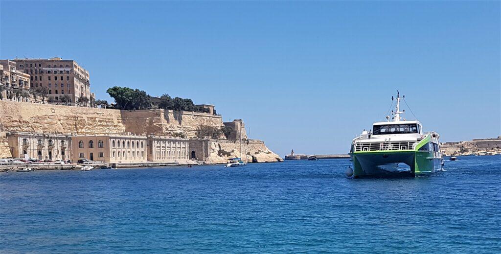 Fast ferry to Gozo, Valletta, Malta, Juliet Rix