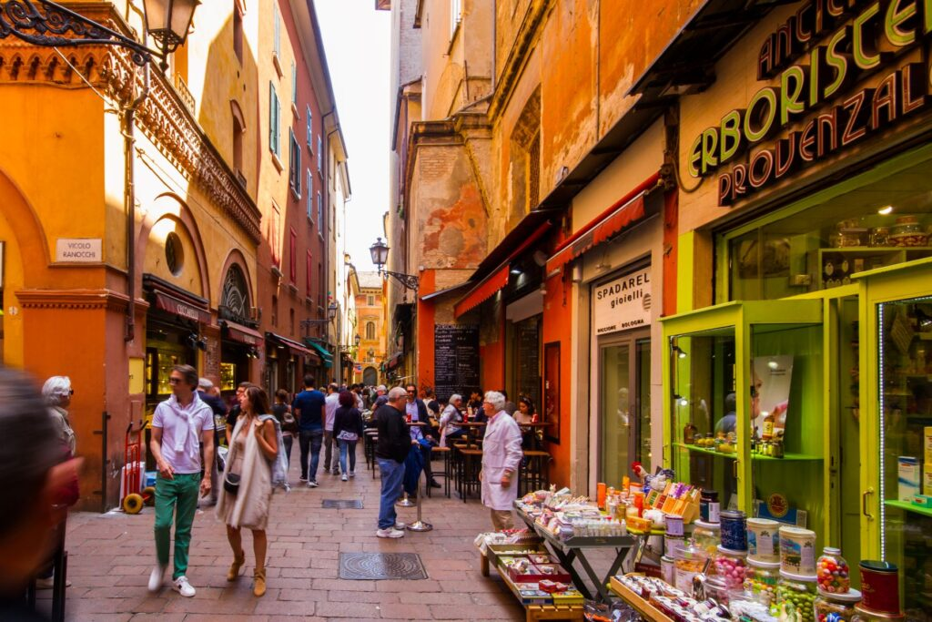 The Quadrilateral is the place to go for food in Bologna