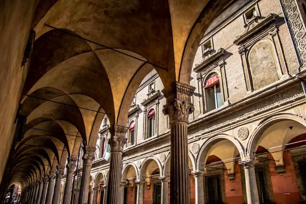 San Giacomo Maggiore portico in Bologna