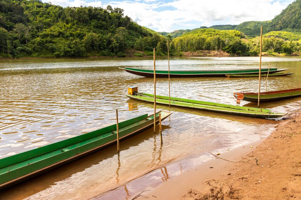 Boats, Luang Prabang, Laos © Bharat Patel