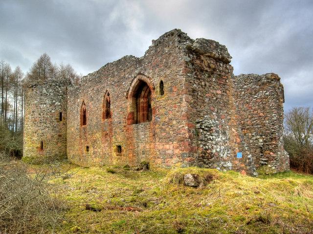 Rait Castle spookiest woods Britain