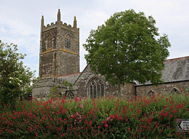 St Newlyn East church St Piran cycling Cornwall