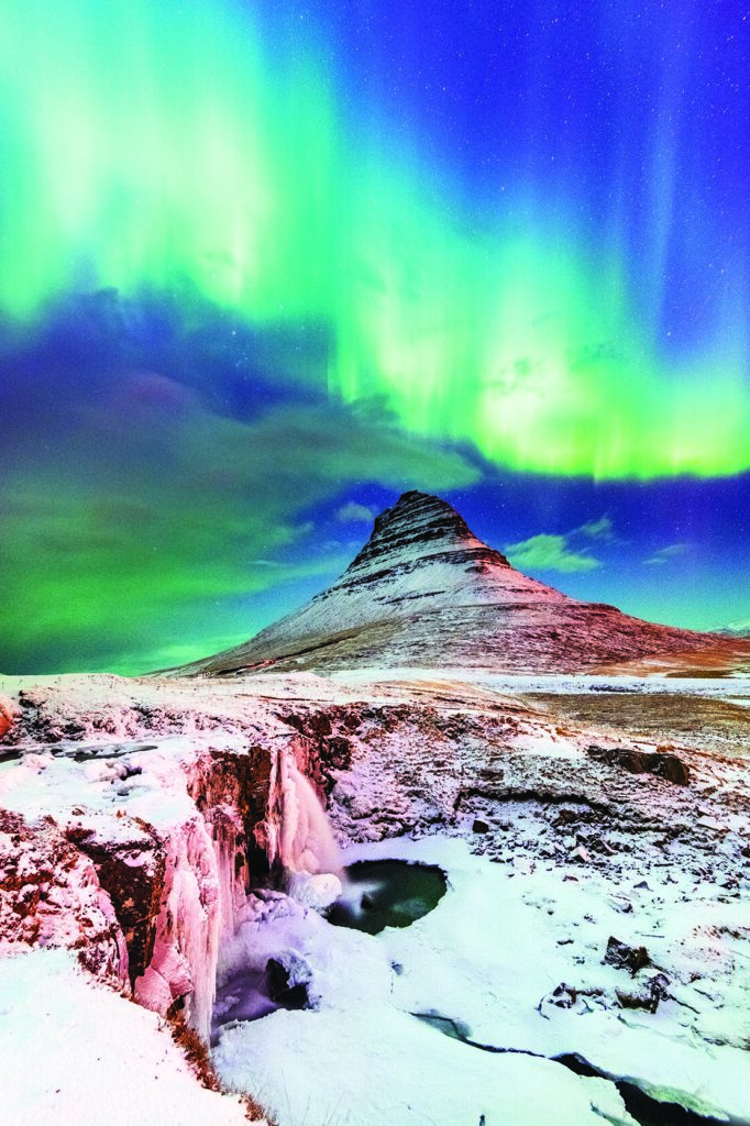 Aurora borealis Kirkjufell Iceland Jordan Banks