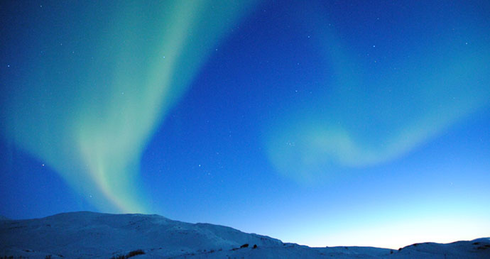 Northern lights Sweden Lapland © Chad Blakely, Wikimedia Commons