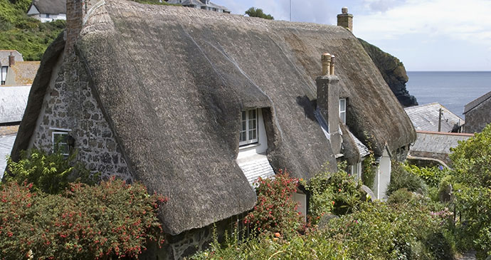 Cottage Cadgwith Cornwall England UK by David Hughes Shutterstock