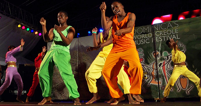 Dancers performing at the World Creole Music Festival © Paul Crask