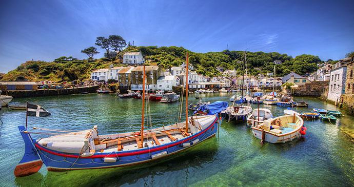 Fishing port of Polperro Cornwall England UK by Rolf E. Staerk Shutterstock