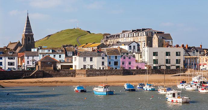 Ilfracombe harbour Devon England UK by ian woolcock Shutterstock