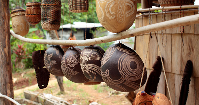 Crafts for sale in Kalinago © Paul Crask