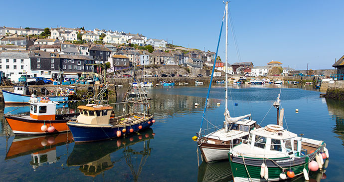 Mevagissey harbour Cornwall England UK by Mike Charles Shutterstock