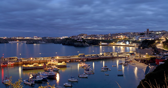Newquay Harbour night Cornwall England UK by Ollie Taylor Shutterstock