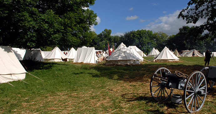 Re-enactors tents Waterloo Belgium Europe by Joseph Jeanmart/Whybelgium.co.uk