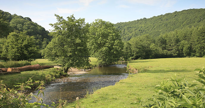 River Exe near Dulverton Devon England UK by cpphotoimages Shutterstock