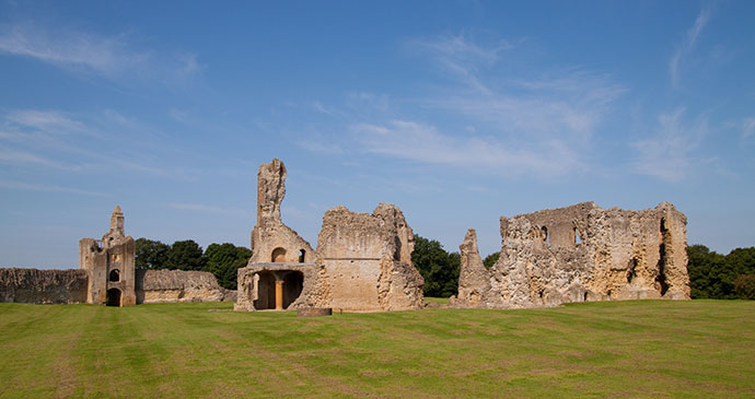 Sherborne Old Castle Dorset England UK by Chris Pole Shutterstock