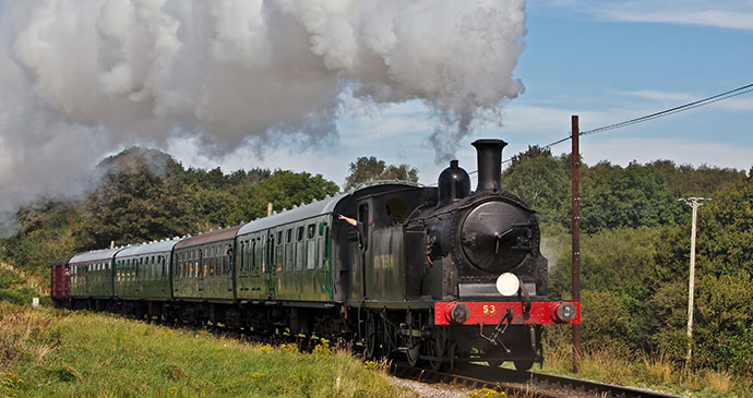 Swanage Railways Steam Gala Dorset England UK by i4lcocl2 Shutterstock