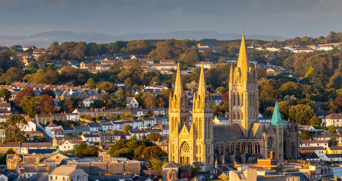 View of Truro Cathedral Truro Cornwall England UK by ian woolcock Shutterstock